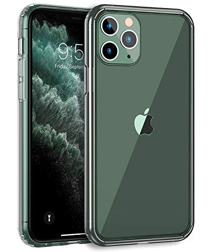 MXX iPhone 11 Pro Max Clear Case, Hybrid Cover with Transparent PC Hard Back and Soft TPU Bumper, Shock Absorbent Frame, Scratch Resistant, Ultra Slim for iPhone 11 Max Pro 6.5 inch (Crystal Clear)