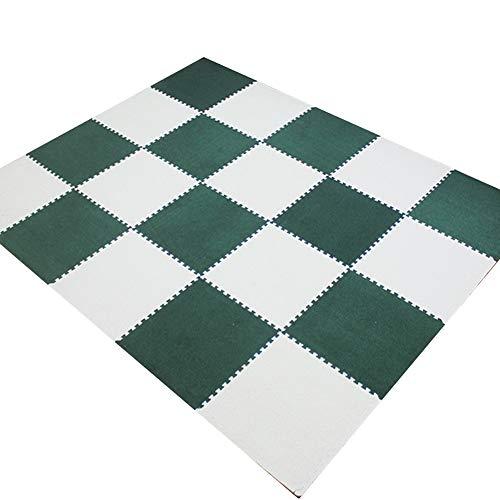 MAHFEI-tapis puzzle en mousse Puzzle Pad Exercise Mat Child Crawling Floor Protection Living Room Suede Soft Cozy Blending, 6 Colors Free Combination (Color : C, Size : 4pcs)