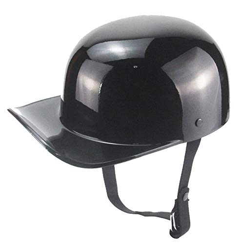 YAYT Casco De Motocicleta Vintage, Casco De Motocicleta Abierto Negro para Adultos Vehículo Eléctrico Medio Casco Ciclomotor Gorra De Béisbol Hombres Y Mujeres Medio Casco Retro