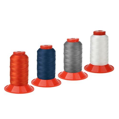 Sharplace Lot de 4 Couleurs 500 Mètres Fil de Couture Corde en Nylon Solide pour Sac à Dos Tente