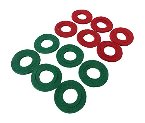 Top Post Anti-Corrosion Terminal Pads, Chemically Treated, Color Coded, Removable Inner Ring, Protect Battery Terminals, for Boat, RV, Automobile, Cargo Van, Jet Ski, 12 Pieces, by Tech Team