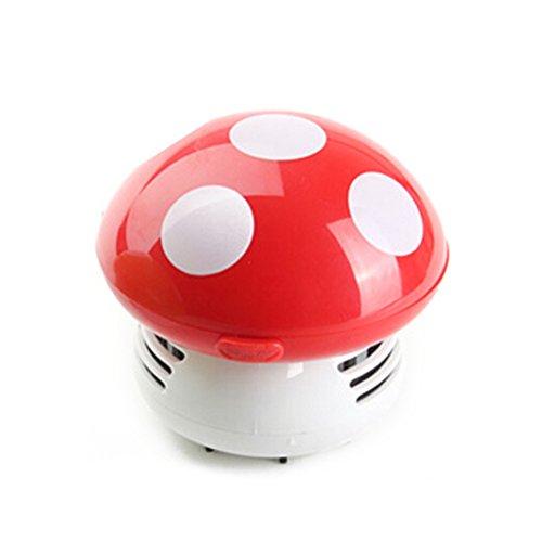 WINOMO Mini Aspirateur Nettoyer Poussière pour Table/Bureau/Coussin/Voiture (Rouge)