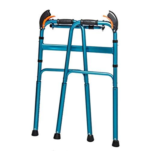 WXDP Selbstfahrend Walker, Downhill Climbing Walking Frame, Walker für Behinderte für ältere Menschen, automatische Höhenverstellung, drehbare Fußpolster, Aluminiumklappu