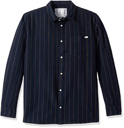 Quiksilver Herren Graceful Wave Woven TOP Hemd, Sky Captain Pin Stripe, Mittel