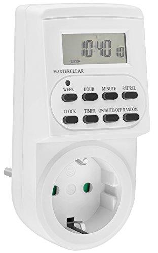 mumbi 24705-Zeitschaltuhr Digitale Zeitschaltuhr 3600W-programmierbar/Zufallsschaltung / 12-24h-Modus-sehr leise