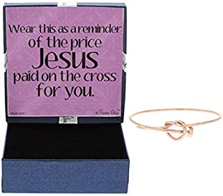Price Jesus Paid on The Cross for You Rose Gold-Tone Crucifixion Nail Knot Bracelet Jewelry Gift