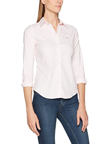 GANT Damen Stretch Oxford Banker Shirt Bluse, Rosa (Light Pink 662), (Herstellergröße: 40)