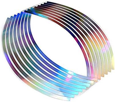16 PCS Bike Wheel Stickers MoreChioce Reflective Wheel Rim Stripe Sticker Tape Waterproof Reflector product image