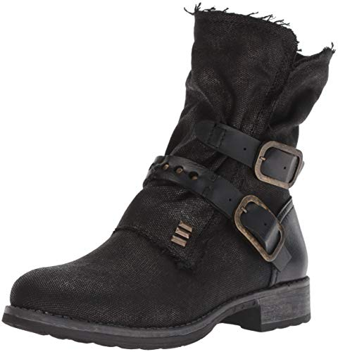 Dirty Laundry by Chinese Laundry Women's TYCEN Motorcycle Boot, Black Canvas, 7.5 M US