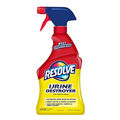 Resolve Urine Destroyer Spray Stain & Odor Remover, Transparent, No Flavor, 32 Fl Oz