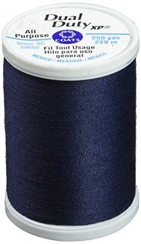 Coats: Thread & Zippers S910-4900 Dual Duty XP General Purpose Thread, 250-Yard, Navy