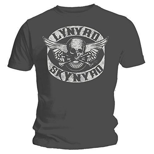 Coole-Fun-T-Shirts T-shirt Lynyrd Skynyrd Biker MC Gris Gris Large