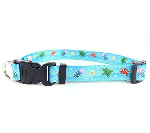 FearLess Pet Hundehalsband, ausbruchsicher, patentiertes Hundehalsband für jeden Tag, Größe S (25,4–40,6 cm Hals), Ocean Friends