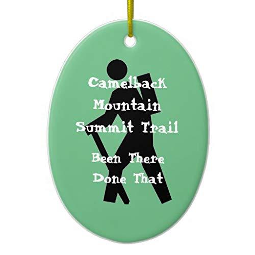 VinMea Xmas Decorative Hanging Ornament for Christmas Tree Camelback Mountain Summit Trail Heart Holiday Christmas Ceramic Ornament