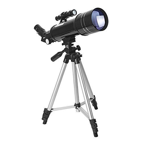 Qilo Telescopio for niños y Principiantes, 70 mm de Abertura de 400 mm astronómico telescopio Refractor, Trípode