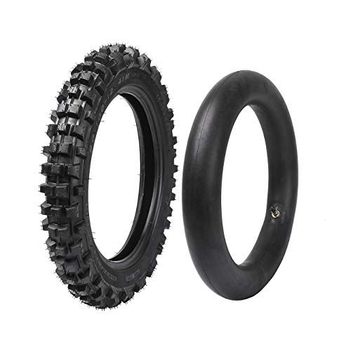 ZXTDR 80/100-12 (3.00-12) Rear Tire and Inner Tube For Motocross Pit PRO Trail Dirt Bike | Off Road Motorcycle Tires