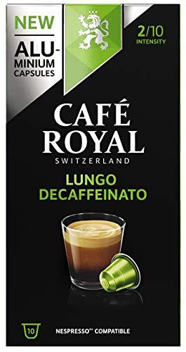 Café Royal 50 Lungo Decaffeinato Nespresso (R)* kompatible Kapseln aus Aluminium - Intensität 2/10 - 50 Kaffeekapseln (5 x 10 Pack) - UTZ - Kompatibel mit Nespresso (R)* Kaffeemaschinen