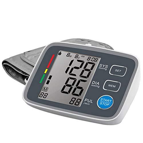 Vollautomatisches digitales Oberarm-Typ-Bluetooth-Blutdruckmessgerät - Intelligentes elektronisches Messgerät für Zuhause, LCD-Arrhythmie-Erkennung