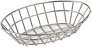 G.E.T. Enterprises Stainless Steel Oval Metal Wire Basket Stainless Steel Wire Baskets Collection 4-82144 (Pack of 1)