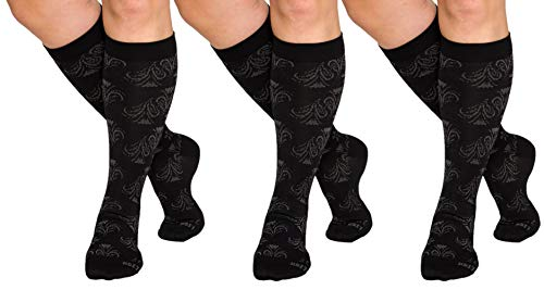 Lish Unisex Compression Sock (Black, M/l) (3 Pack)