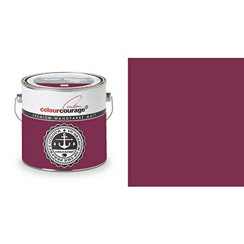 2,5 Liter Colourcourage Premium Wandfarbe Ortensia Rossa Rotviolett   L719778593   geruchslos   tropf- und spritzgehemmt