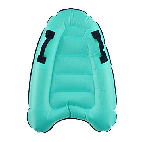 Tabla de surf inflable con asas, diseño cóncavo y convexo, ligera, flotante para nadar, aprender a nadar