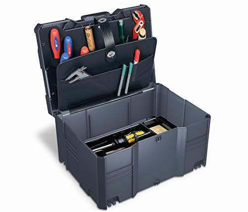 Tanos Werkzeug-systainer® T-Loc III (2-teilig) mit Werkzeugeinsatz und 2-tlg. Werkzeugdeckel anthrazit (alles in anthrazit)