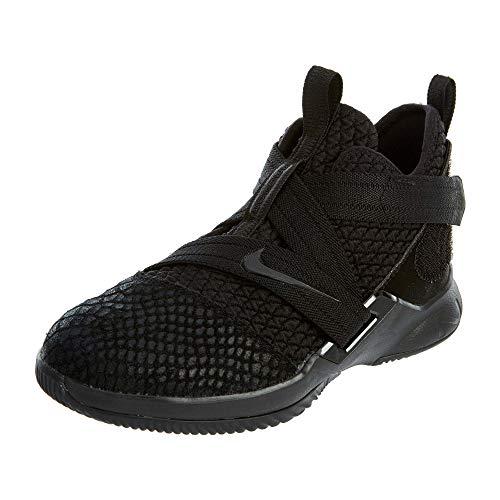 Nike Kinder Lebron Soldier XII SFG Basketballschuhe, Schwarz (Schwarz/Schwarz/Schwarz), 31 EU