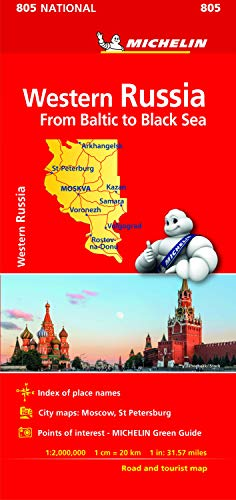 Preisvergleich Produktbild Michelin Western Russia Road and Tourist Map 805: From Baltic to Black Sea