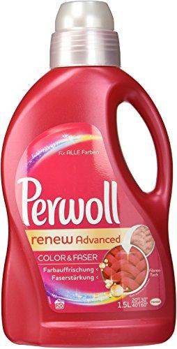 Perwoll renew Advanced Color & Faser Feinwaschmittel, 80 (4 x 20) Waschladungen, für farbige Textilien
