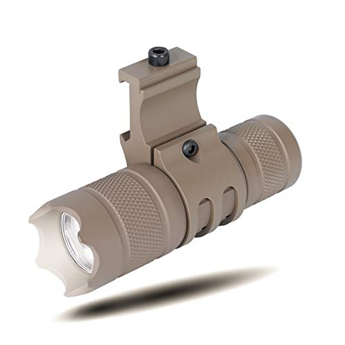 Monstrum 150 Lumens Flashlight with Remote Pressure Switch and Picatinny Rail Mount   Flat Dark Earth