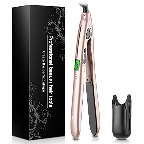 Culwad Haarglätter 2 in 1 Haarpflege Glätteisen und Lockenstab mit LCD-Display Temperatur, Glätteisen Locken und Rotierende Einstellbare Temperatur(140-230℃),...