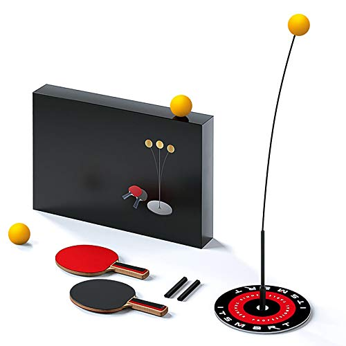 Tendlife Entrenador de Tenis de Mesa con Eje Blando elástico, 2 paletas 3 Pelotas, Base para Entrenamiento, Set de Ping Pong...