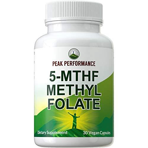 5-MTHF Methyl Folate by Peak Performance. Methylfolate Capsules - Most...