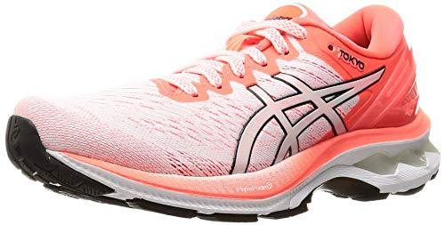 Asics Gel-Kayano 27 Tokyo, Road Running Shoe Mujer, White/Sunrise Red, 39 EU