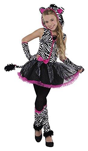 Christy 's Mädchen Sassy Streifen Zebra Kostüm (14–16Jahre)
