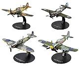 OPO 10 - Lot de 4 Avions de Combat Spitfire Curtiss Hawker 1/72 (AC9+AC21+AC24+AC35)