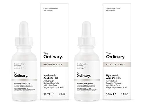 The Ordinary - Ácido Hialurónico 2% + B5, 30 ml, paquete de 2 unidades
