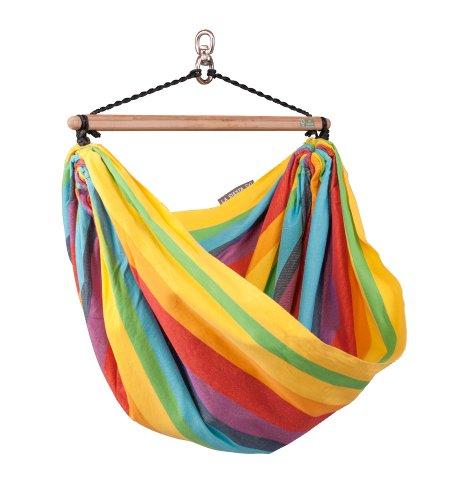 LA SIESTA Iri Rainbow - Chaise-hamac enfant en coton