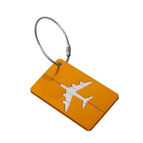 Guangcailun New Aluum Luggage Tags Suitcase Label Name Address ID Bag Baggage Tag Travel