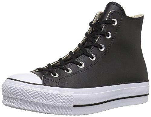 Converse Chuck Taylor CTAS Lift Clean Hi, Zapatillas Altas Mujer, Negro (Black/Black/White 001), 38 EU