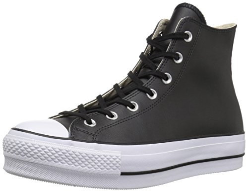 Converse Damen Chuck Taylor All Star Lift CLEAN s Niedrig Sneakers,  Schwarz (Black/Black/White 001),  37 EU