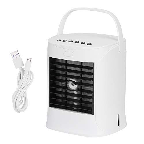 Jingyi Lüfter, energiesparend, USB Mini-Klimaanlage Befeuchtung Desktop-Lüfter Luftkühler Eingebauter Lautsprecher für Büro-Wohnheim-Desktop-Lüfter