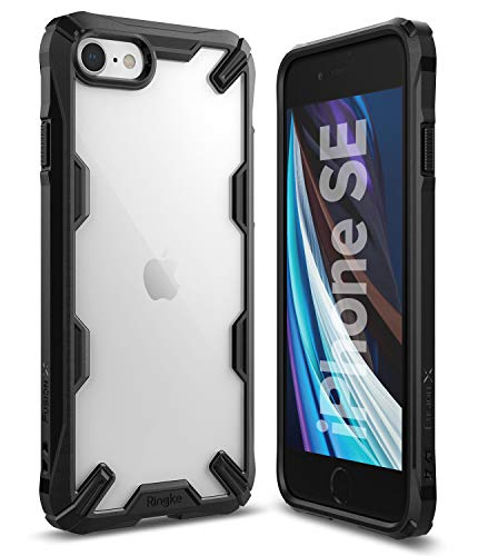 Ringke Fusion X Case Designed for New iPhone SE 2020 (2nd Gen) Compatible with iPhone 8 (2017), iPhone 7 (2016) 4.7' - Black