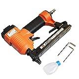 ORAZIO Grapadora neumática de aire comprimido para madera, tapicería y usos múltiples. Grapas de corona de 20 GA de ancho (11,2 mm) 6-22 mm de longitud