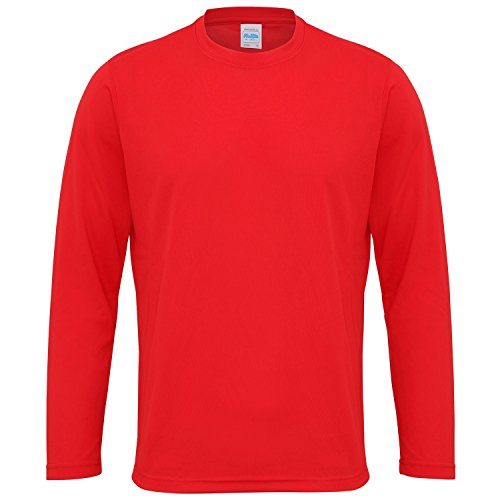 Just Cool - Camiseta Deportiva Transpirable tecnología Neoteric™ de Manga Larga para Hombre - Running/Gym/Deporte