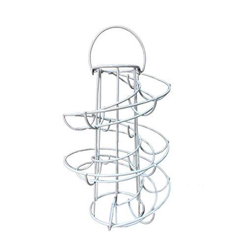Hueveras Para Frigorifico Tenedor de huevos Diseño de espiral Dispensador de huevo Estante de almacenamiento Pantalla de huevo Huevo Huevera (Color : White)