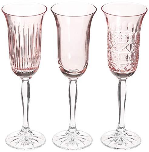 Copas De Cristal Color Rosa