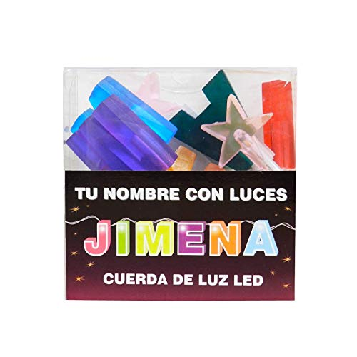 TU NOMBRE CON LUCES - Cadena de luz LED con nombres y símbolos ¡TU NOMBRE EN LAS LUCES! 8 Luces LED con letras, si el nombre tiene menos, viene con símbolos extra como estrellas. (Jimena)