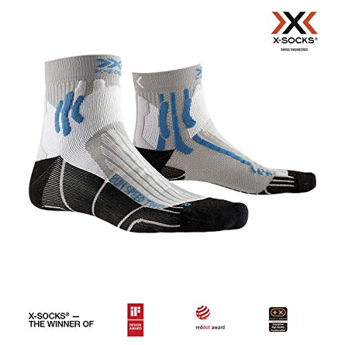 X-Socks Run Speed Two Socks, Pearl Grey/Opal Black, 42-44